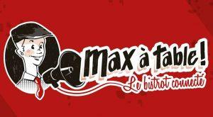 max à table restaurant connecté