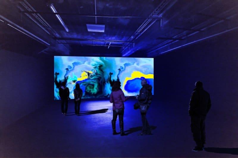 Exposiiton digital Abysse base sous marine Nuit des musées