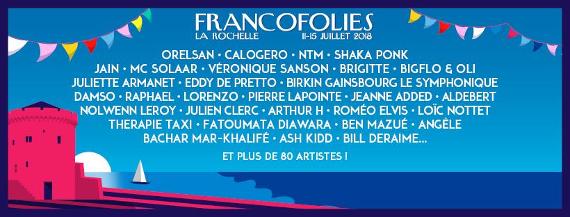 festival francofolies La Rochelle Aquitaine