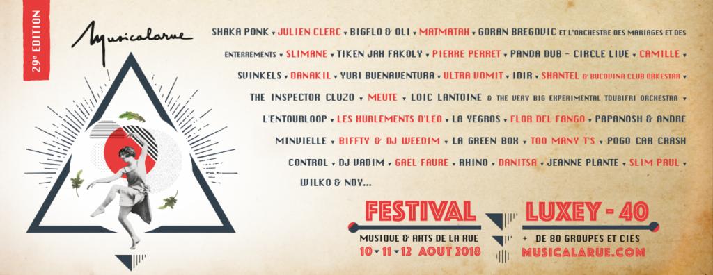 festival Musicalarue Luxey, aquitaine bordeaux