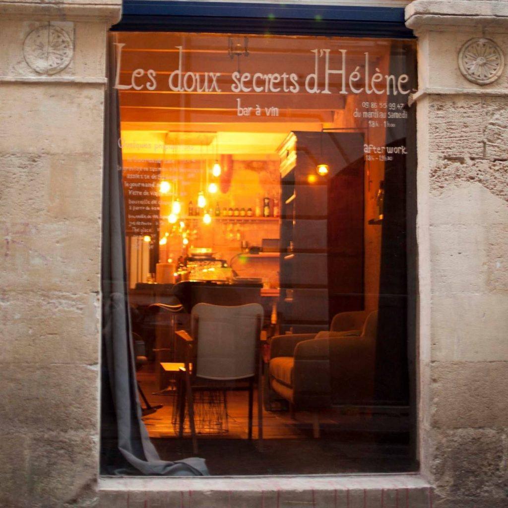 Doux secrets d'hélène bar à vin bordeaux