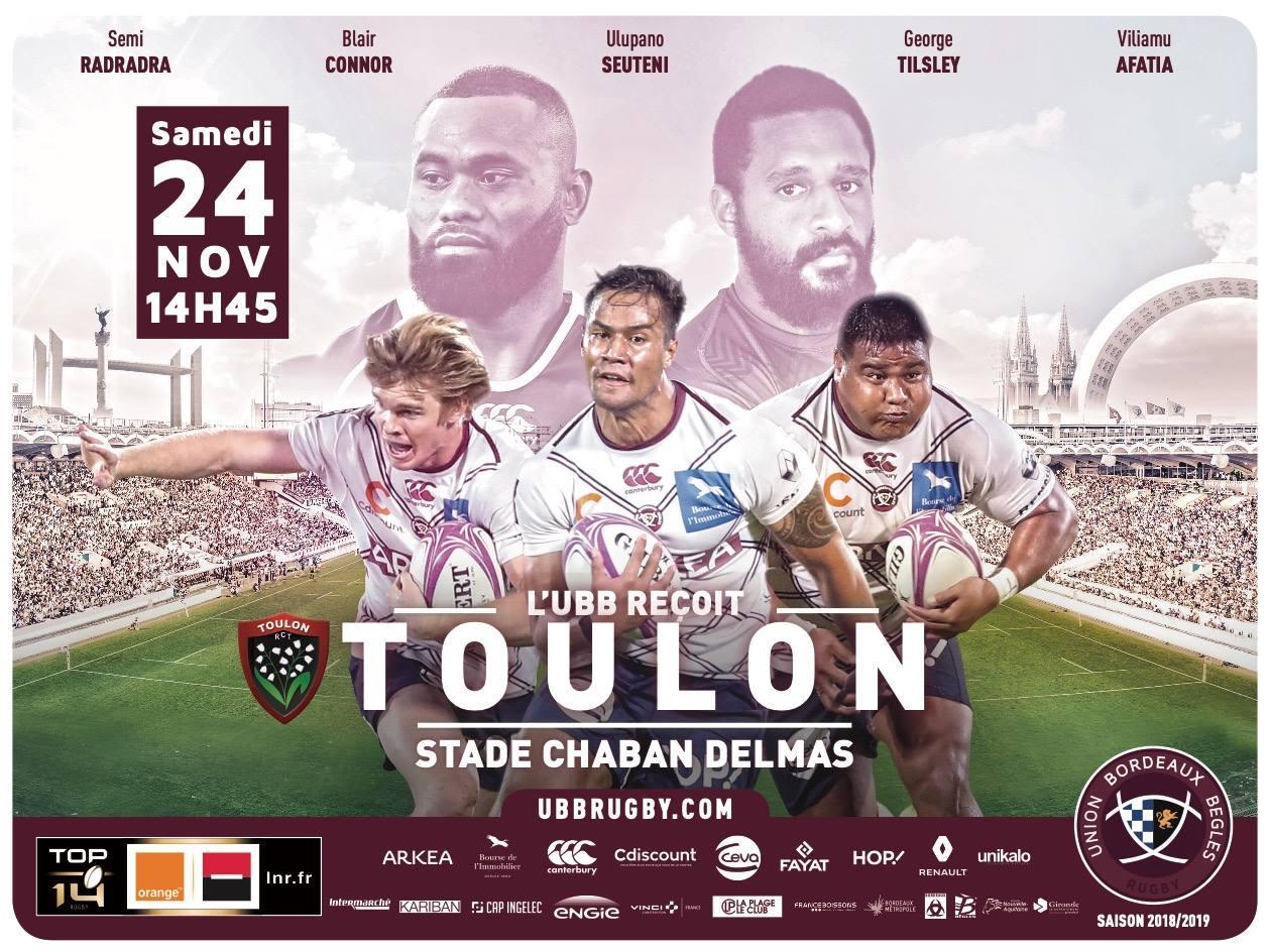 Photo of Tentez de gagner 7×2 places pour le match UBB/ Toulon
