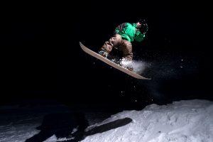 snow de nuit Pyrénées