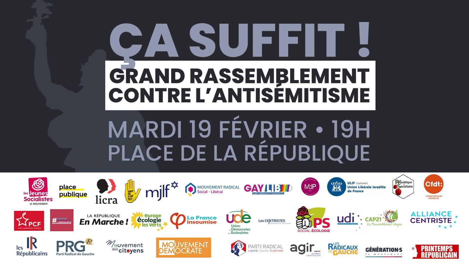 Photo of Grand rassemblement contre l'antisémitisme ce soir à Bordeaux