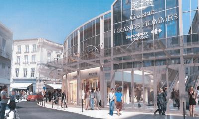 Centre commercial des Grands Hommes en travaux