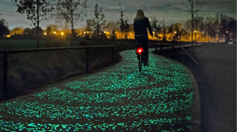 Photo of Une piste cyclable et piétonne phosphorescente à Bordeaux