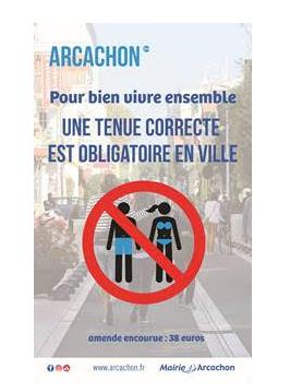 interdiction aux maillots de bain dans la ville d'arcachon