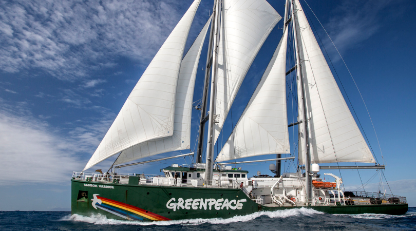 voilier Rainbow Warrior III