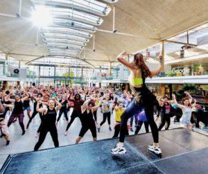 séance de fitness collective
