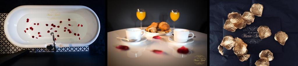 Chambre romantique pour une nuit inoubliable en amoureux à Bordeaux