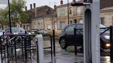 Photo of Une pompe à vélo en libre service disponible à Bordeaux