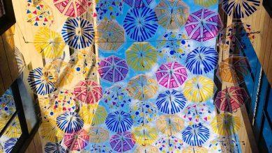 Photo of La promenade Sainte Catherine s'habille de centaines de parapluies colorés