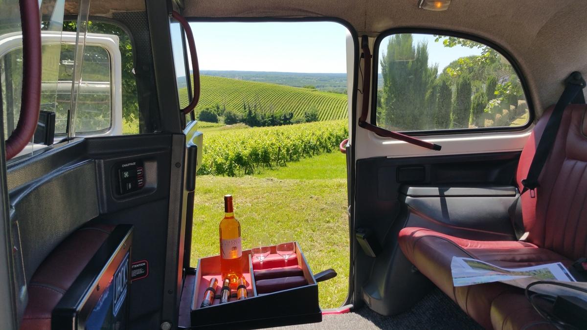 Wine cab visite du vignoble bordelais insolite