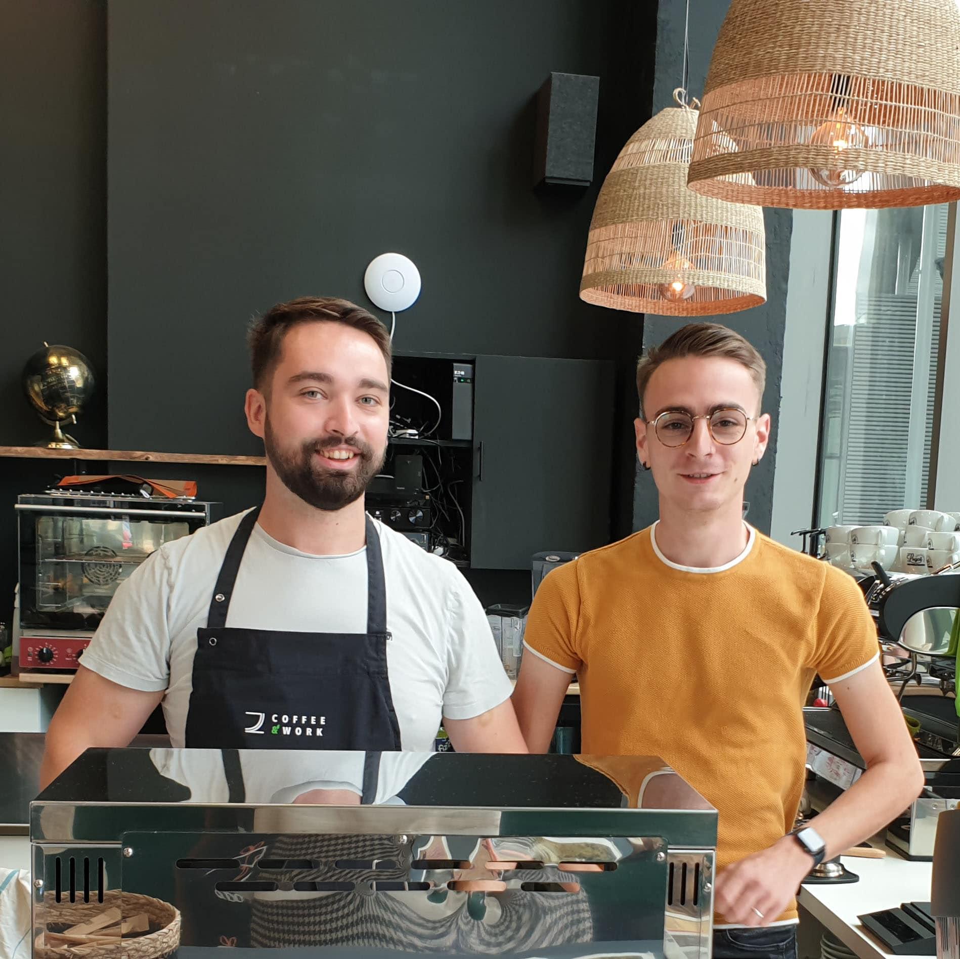 Bruno et Baptiste & Coffee & Work